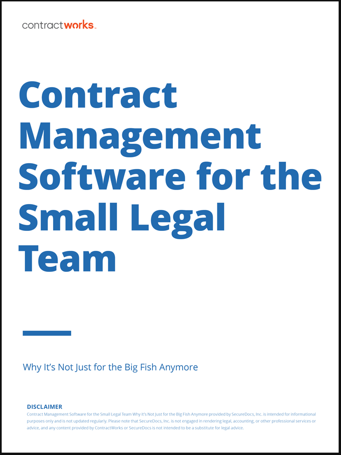 Contract Management for Small Legal Teams